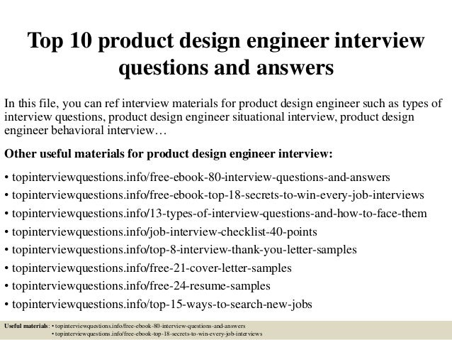 Top 10 Product Design Engineer Interview Questions And Answers