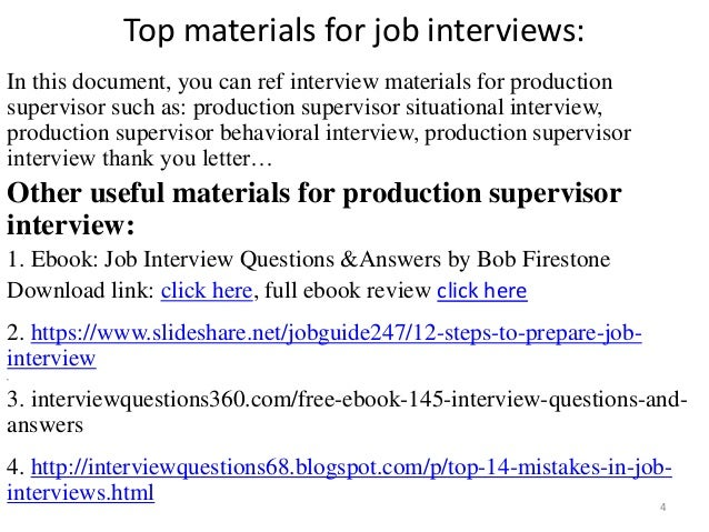 Top 36 production supervisor interview questions and answers