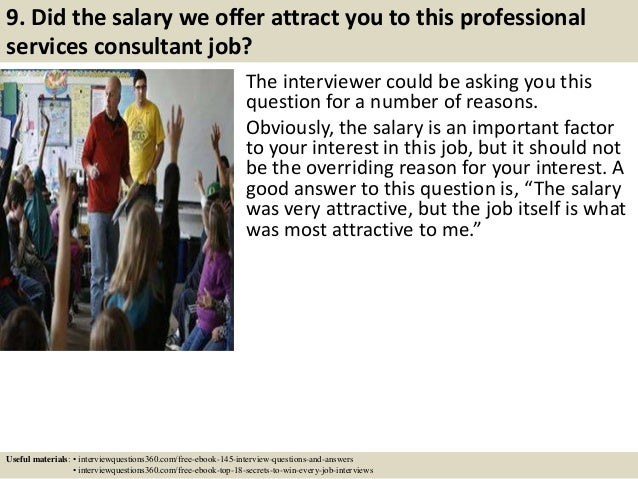 Top 10 professional services consultant interview questions