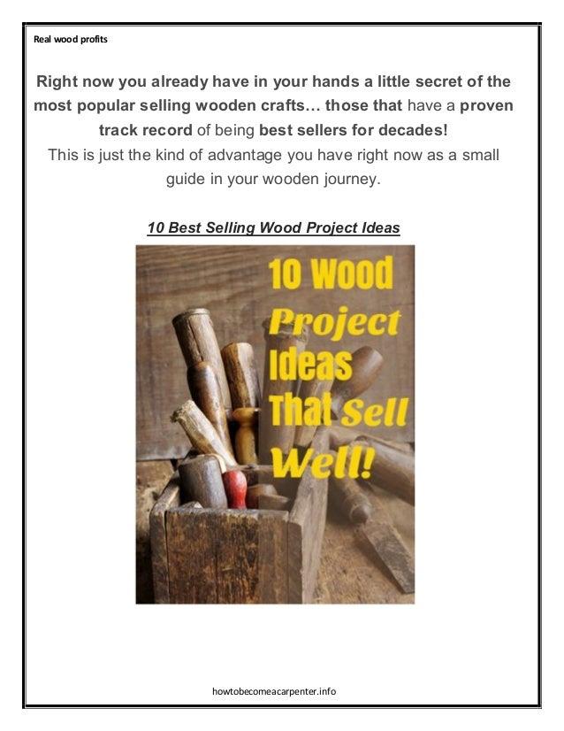 Top 10 profitable simple wodden crafts