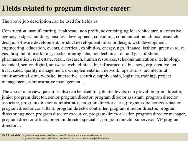 program coordinator interview questions