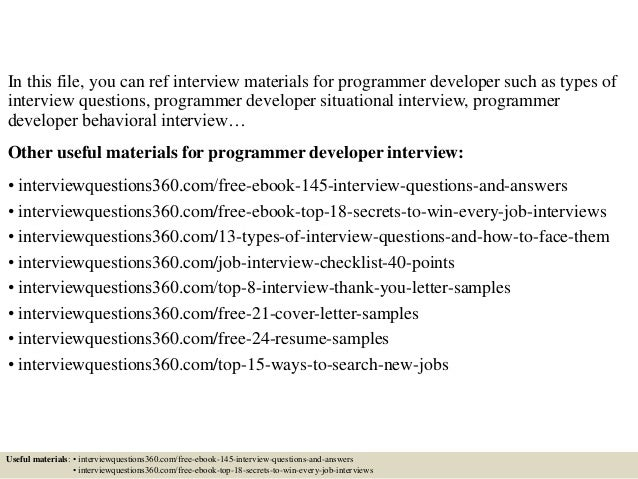 Top 10 programmer developer interview questions and answers Slide 2