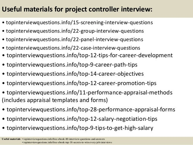 Top 10 project controller interview questions and answers – Project Controller