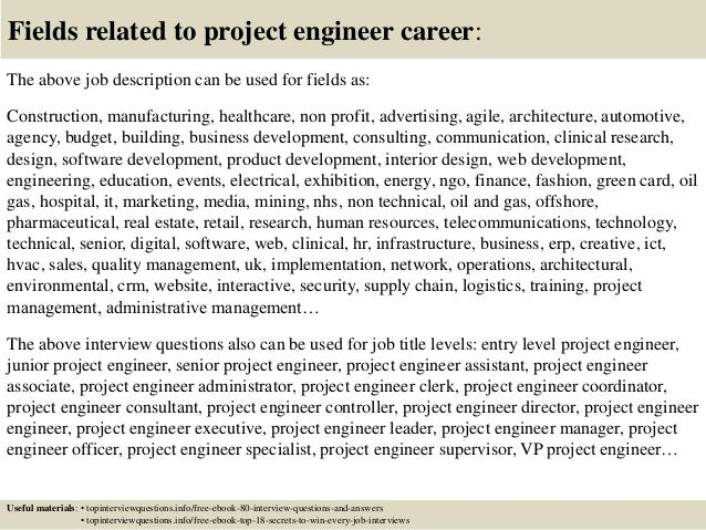 Top  Project Engineer Interview Questions And Answers Pdf