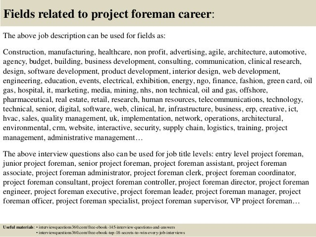 Top 10 project foreman interview questions and answers 18 fandeluxe Gallery