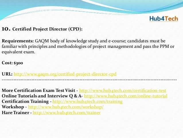 Top 10 Project Management Certifications - Hub4Tech.com