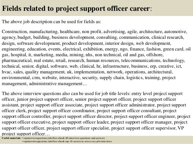 Top 10 Project Support Officer Interview Questions And Answers