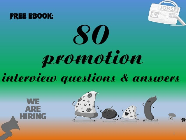 80 1 Promotion Interview Questions U0026 Answers FREE EBOOK:
