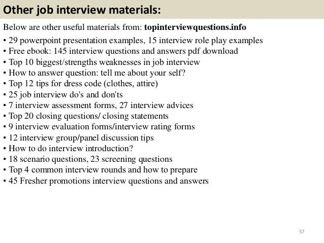 promotion interview questions and answers pdf