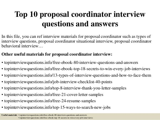 Top 10 Proposal Coordinator Interview Questions And Answers 1 638gcb1426794161