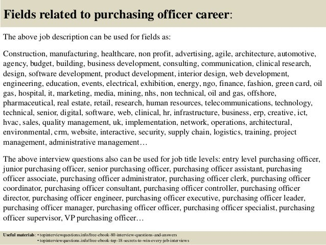 Top  Purchasing Officer Interview Questions And Answers