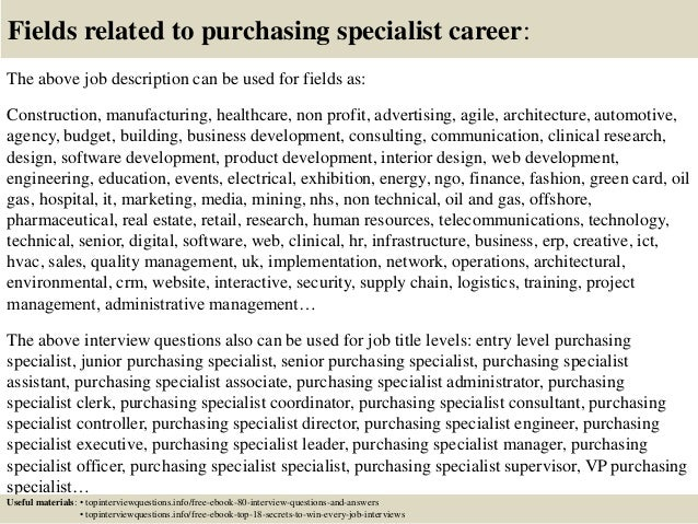 Top  Purchasing Specialist Interview Questions And Answers