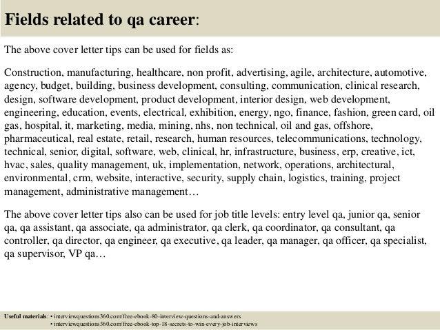 Qa Consultant | Resume CV Cover Letter