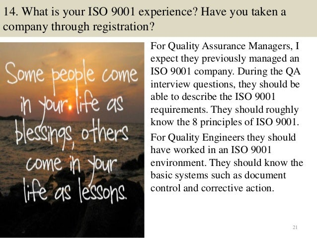21 14 - Qa Interview Questions And Answers Quality Assurance Interview