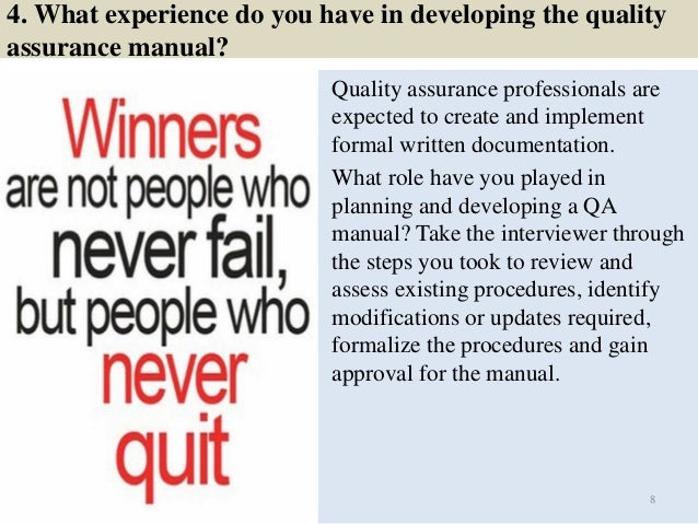 8 4 - Qa Interview Questions And Answers Quality Assurance Interview