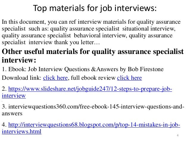 quality assurance specialist interview 4 - Qa Interview Questions And Answers Quality Assurance Interview