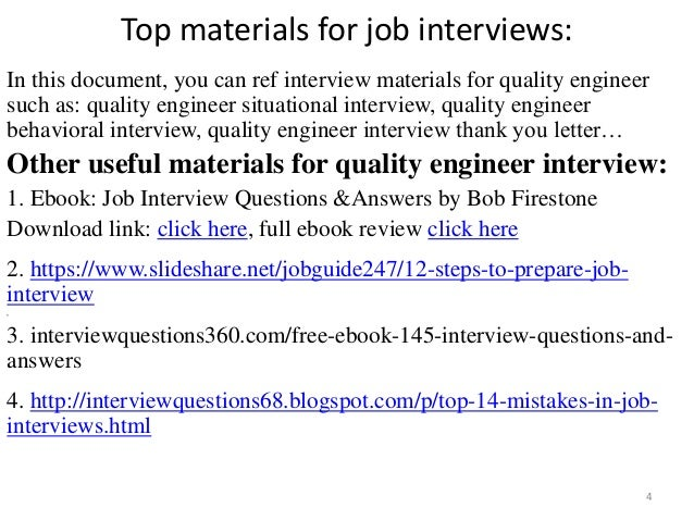 Top 52 Quality Engineer Interview Questions And Answers Pdf Ebook
