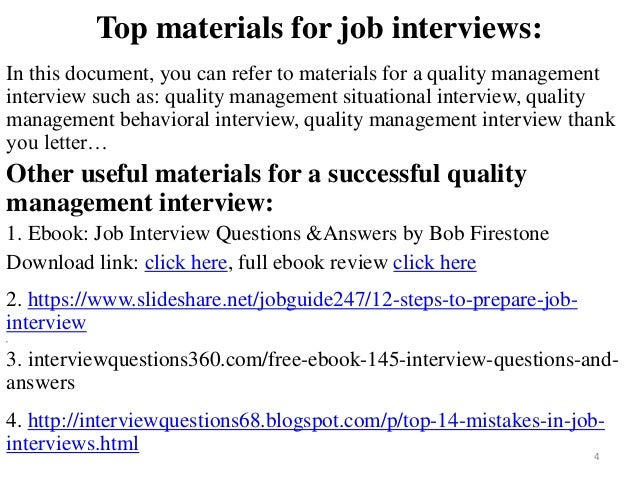 quality management questions and answers This handy guide lists out 10 of the most common project management interview questions quality management questions and answers for project management.