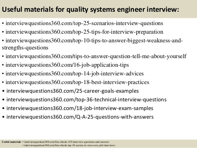 Top 10 quality systems engineer interview questions and answers – Systems Engineer Job Description
