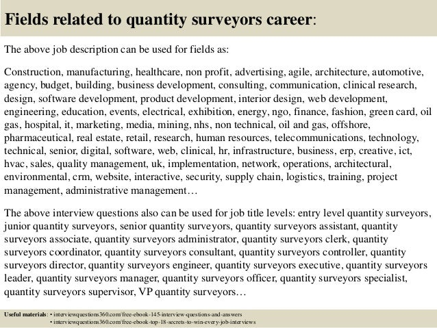 top 10 quantity surveyors interview questions and answers