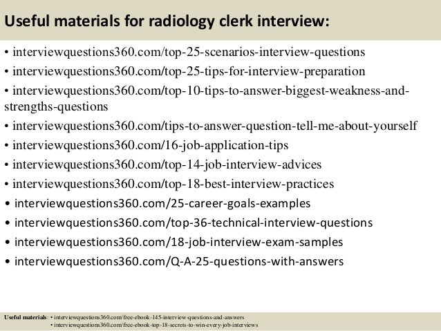 ... 14. Useful Materials For Radiology Clerk ...