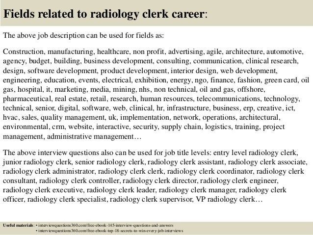 Top 10 radiology clerk interview questions and answers