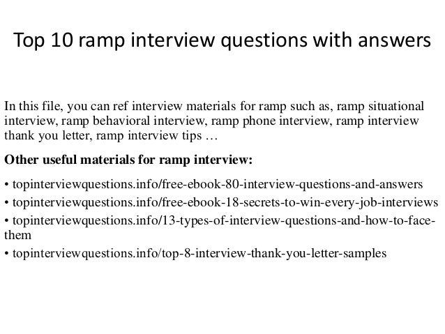 Top 10 Ramp Interview Questions With Answers