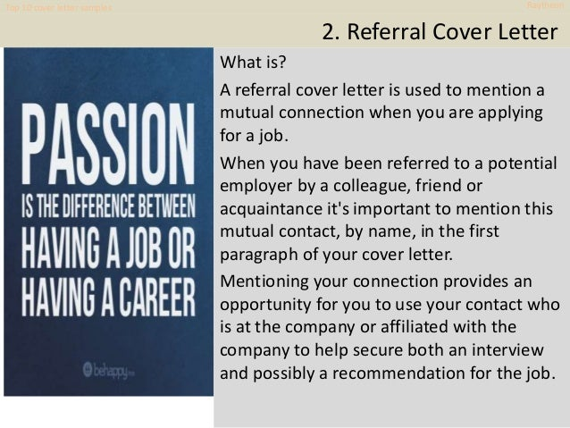 Sincerely Top 10 Cover Letter Samples Raytheon 6