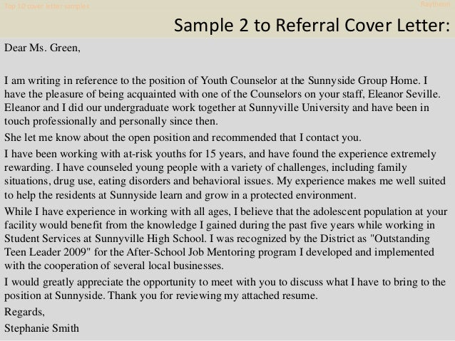 Cover Letter Samples Raytheon 8