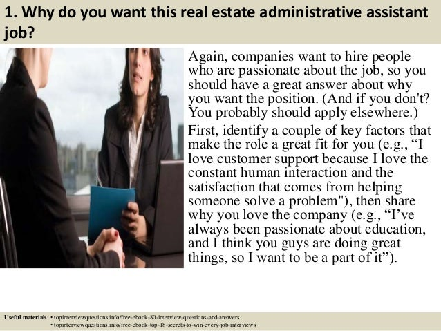 top 10 real estate administrative assistant interview questions and answers - Administrative Assistant Interview Questions Answers
