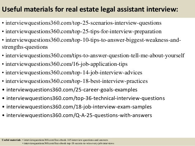 14 useful materials for real estate legal assistant interview - Medical Assistant Interview Questions And Answers