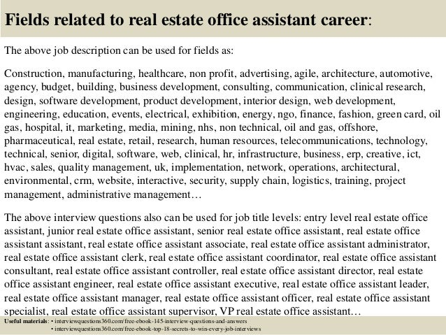 Top 10 real estate office assistant interview questions and answers