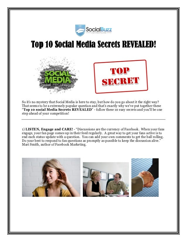 Top 10 Social Media Secrets REVEALED!So it's no mystery that Social Media is here to stay, but how do you go about it the ...