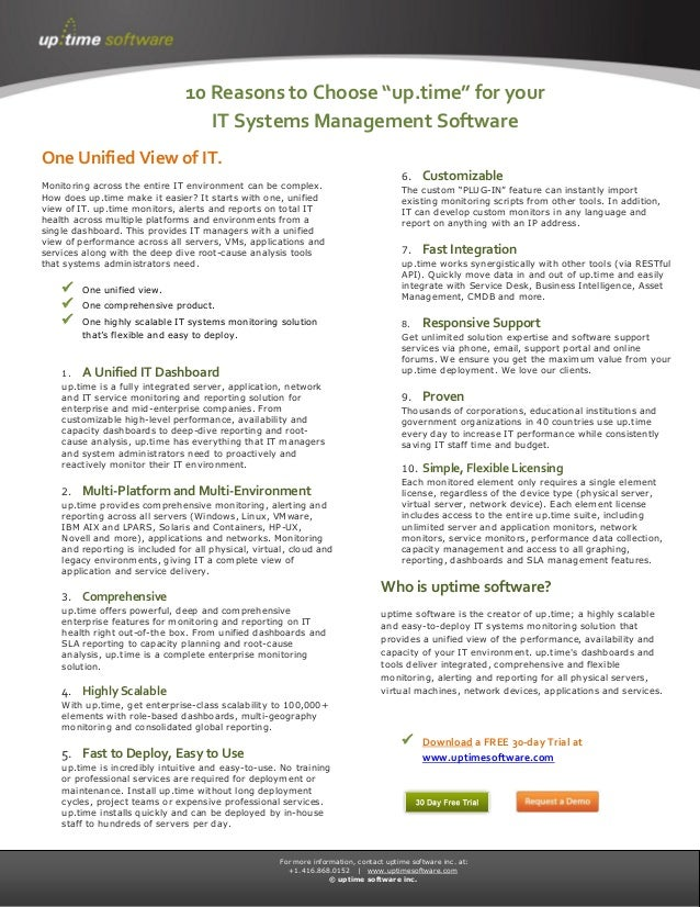 For more information, contact uptime software inc. at:+1.416.868.0152   www.uptimesoftware.com© uptime software inc.One Un...