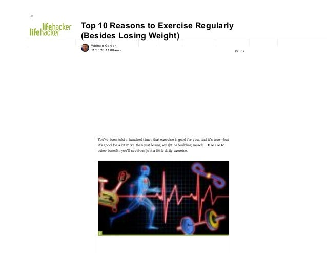 Top 10 reasons to exercise regularly