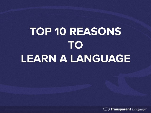 Speaking learning and following reasons