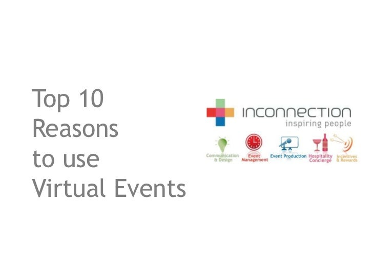 Top 10Reasonsto useVirtual Events
