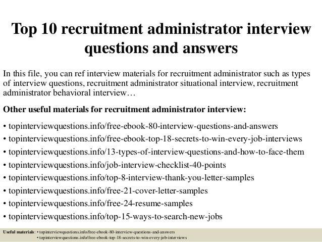 Cover Letter Recruitment Administrator   Andrian James Blog