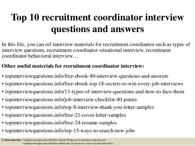 top 10 recruitment coordinator interview questions and answers 1 638 jpg cb 1504883684