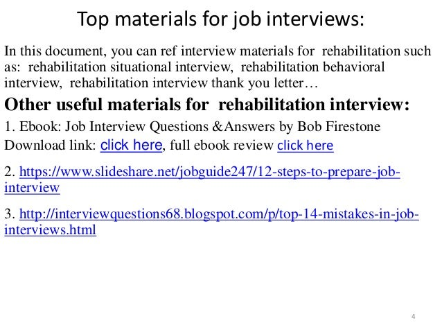 rehabilitation technician resume