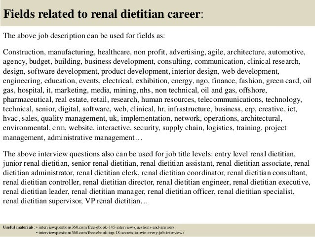 Top  Renal Dietitian Interview Questions And Answers
