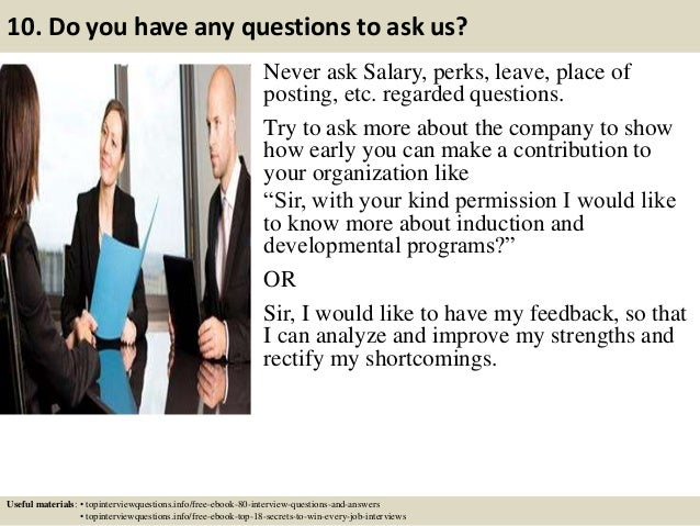 good questions to ask interviewer