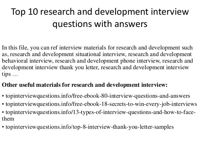 Top 10 research and development interview questions with answers top 10 research and development interview questions with answers in this file fandeluxe Choice Image