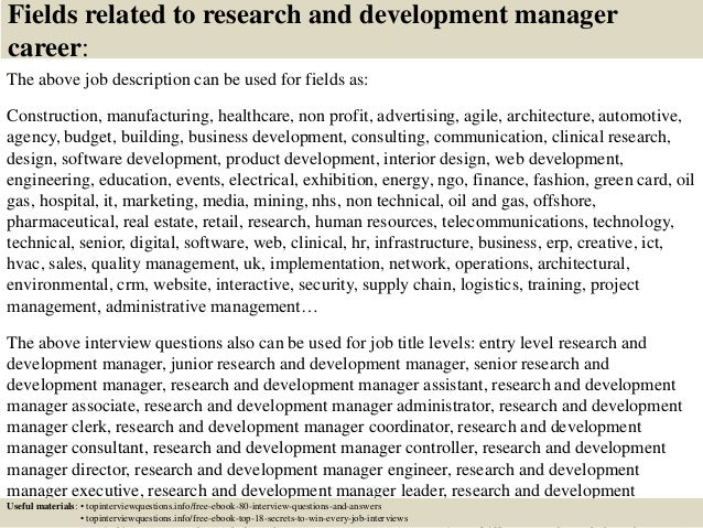 Top 10 Research And Development Manager Interview Questions And Answe