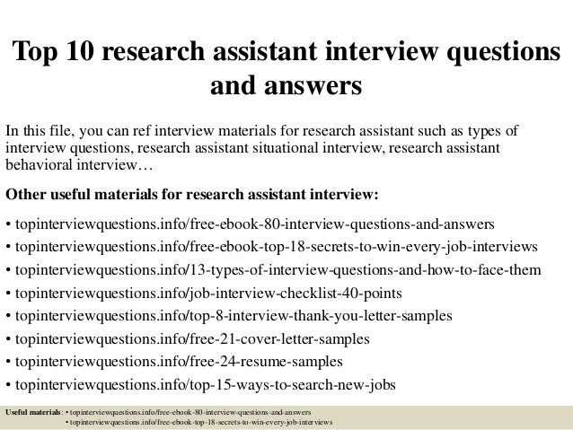 TopResearchAssistant InterviewQuestionsAndAnswersJpgCb