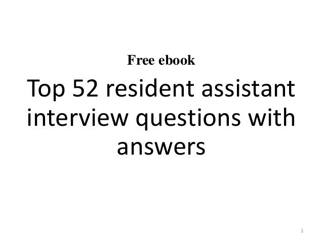 resident advisor interview questions