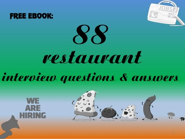 Awesome 88 1 Restaurant Interview Questions U0026 Answers FREE EBOOK: ...