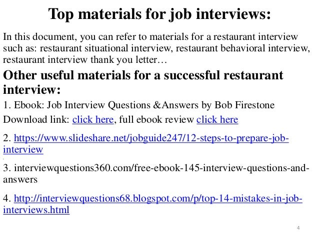 High Quality ... Tips To Prepare For Restaurant Interview; 4.