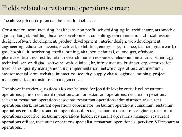 Top 10 restaurant operations interview questions and answers