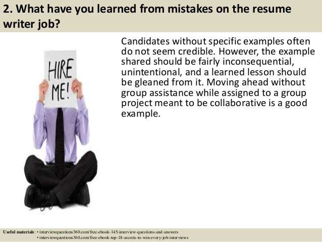 top 10 resume writer interview questions and answers